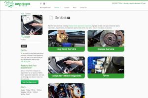 John Scott Motors Website - Desktop view